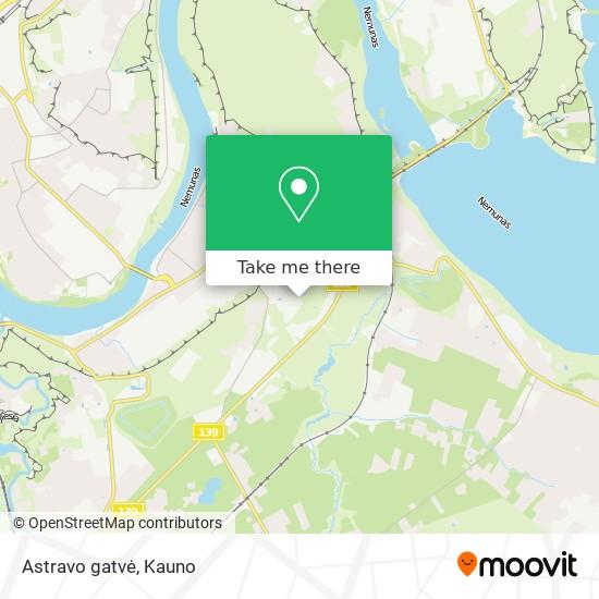 Astravo gatvė map
