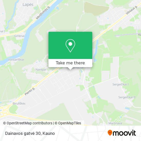 Dainavos gatvė 30 map