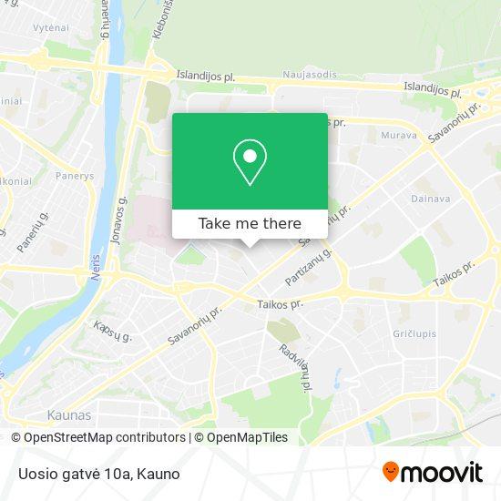 Uosio gatvė 10a map