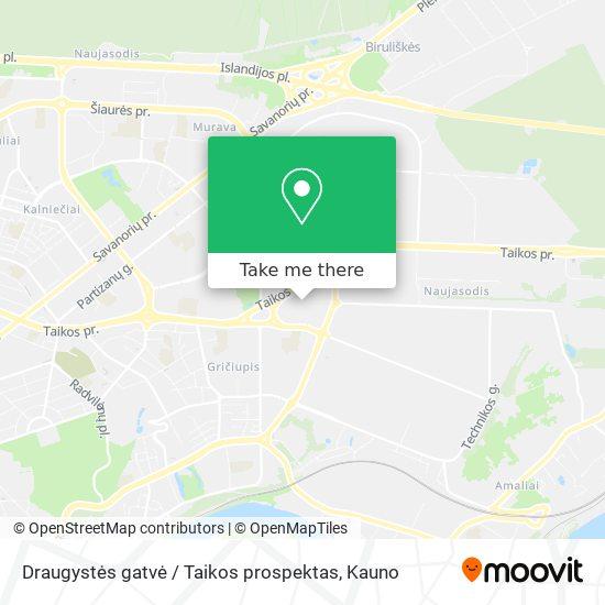 Draugystės gatvė / Taikos prospektas map