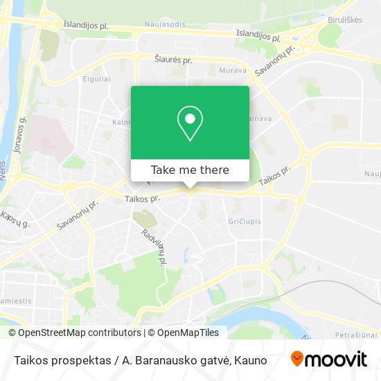 Taikos prospektas / A. Baranausko gatvė map