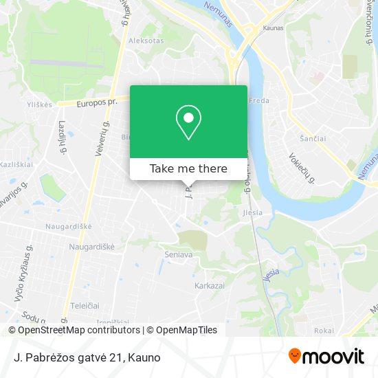 J. Pabrėžos gatvė 21 map