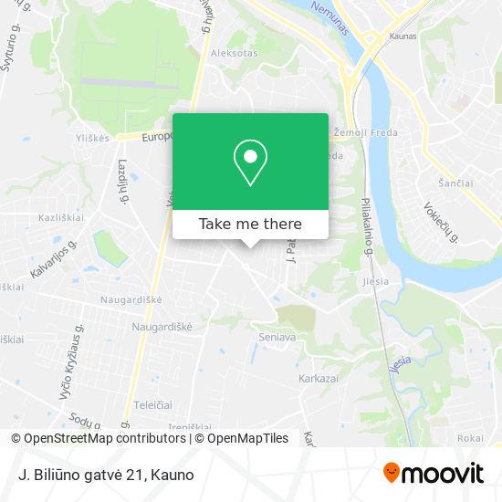 J. Biliūno gatvė 21 map