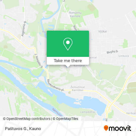 Paštuvos G. map