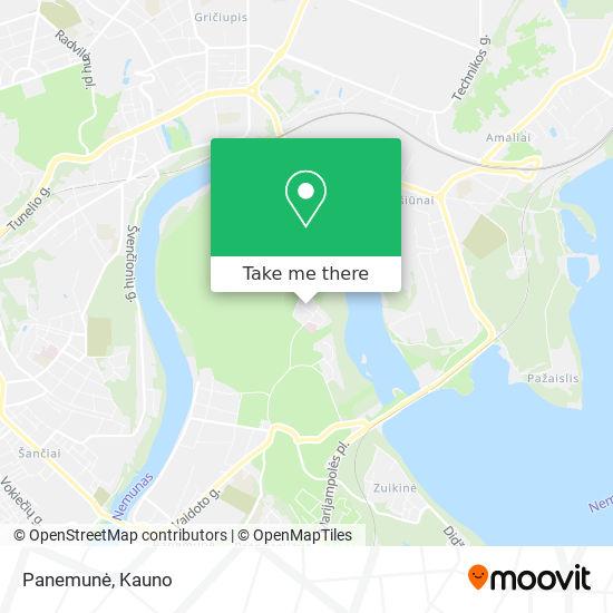 Panemunė map
