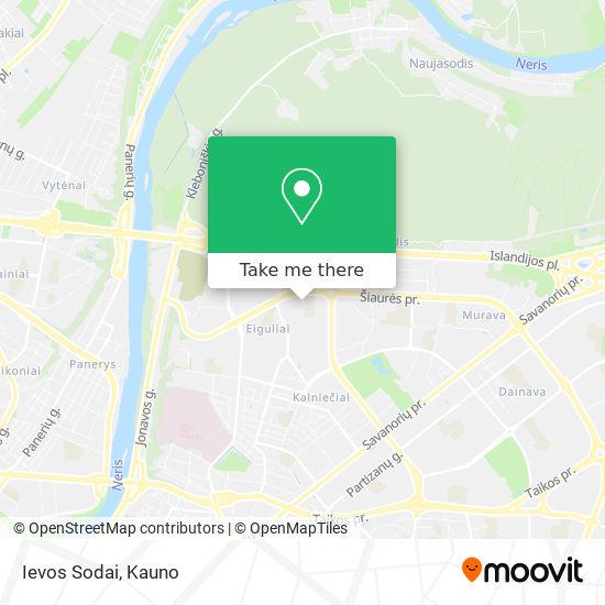 Ievos Sodai map