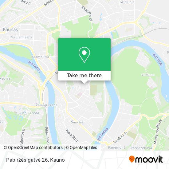 Pabiržės gatvė 26 map