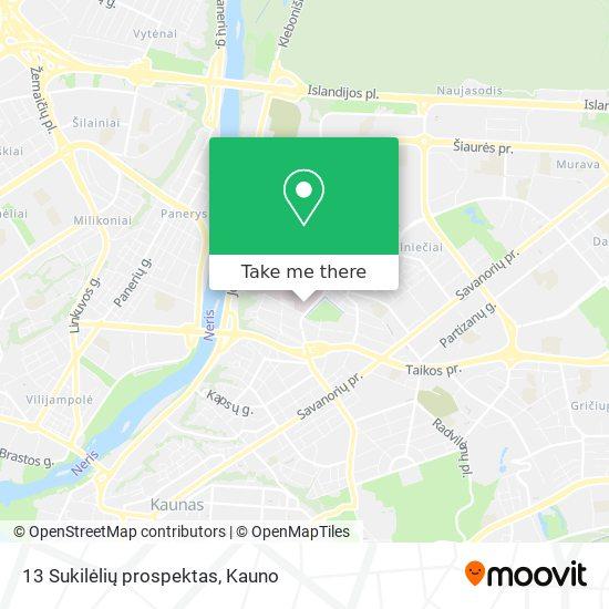 13 Sukilėlių prospektas map