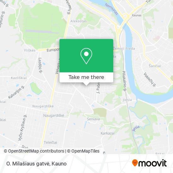 O. Milašiaus gatvė map