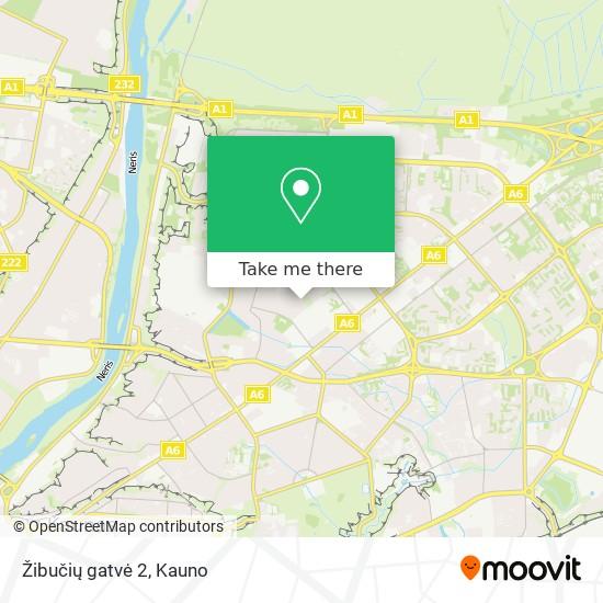Žibučių gatvė 2 map