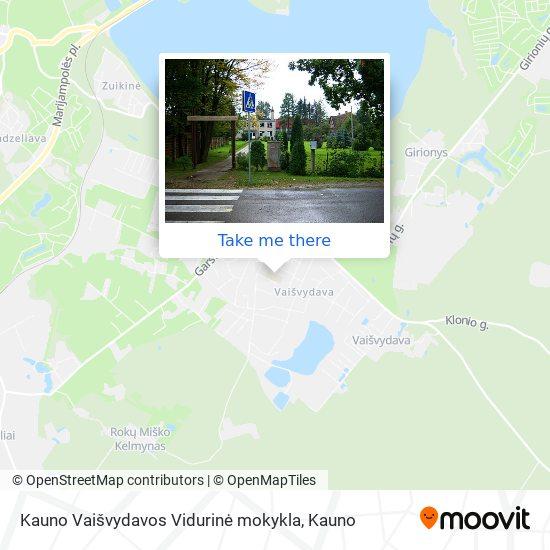 Kauno Vaišvydavos Vidurinė mokykla map