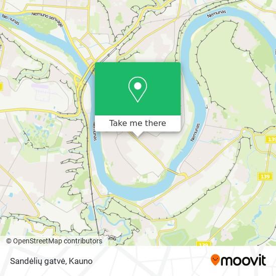 Sandėlių gatvė map