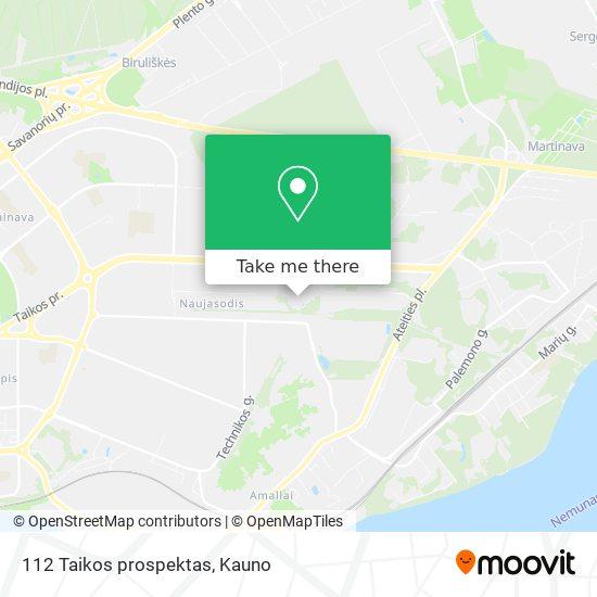 112 Taikos prospektas map