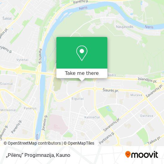 """""""Pilėnų"""" Progimnazija map"""