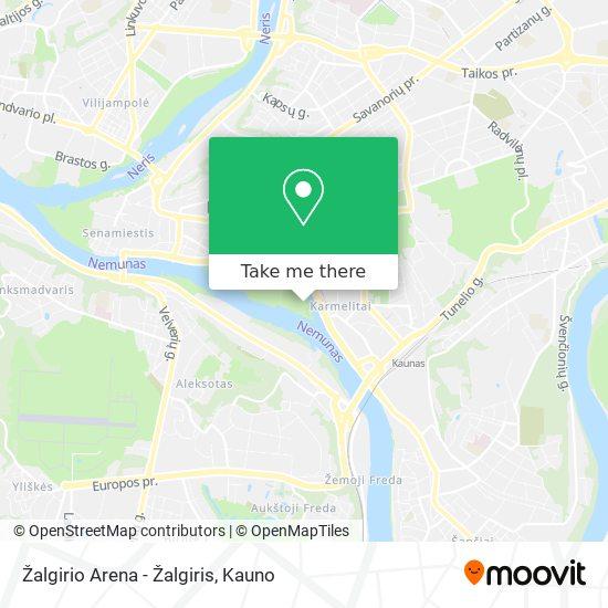 Žalgirio Arena - Žalgiris map