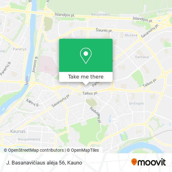 J. Basanavičiaus alėja 56 map