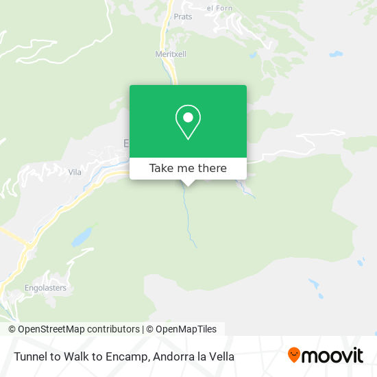 Tunnel to Walk to Encamp map