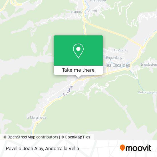 Pavelló Joan Alay map