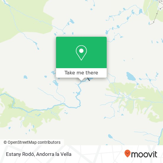 Estany Rodó map