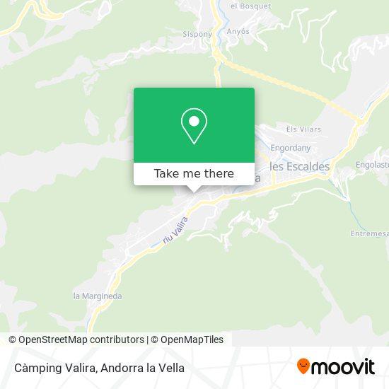 Càmping Valira map