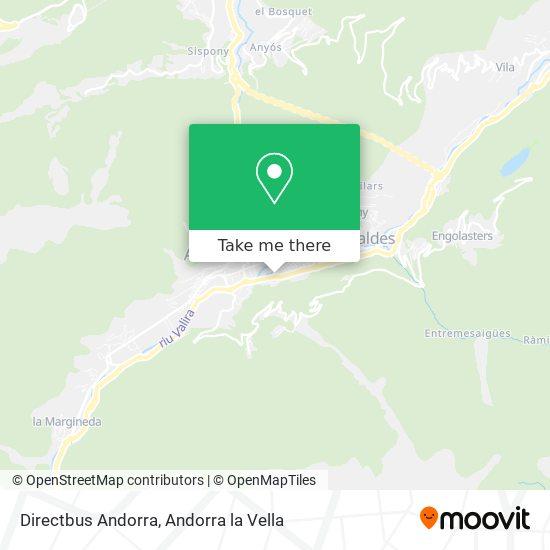 Directbus Andorra map