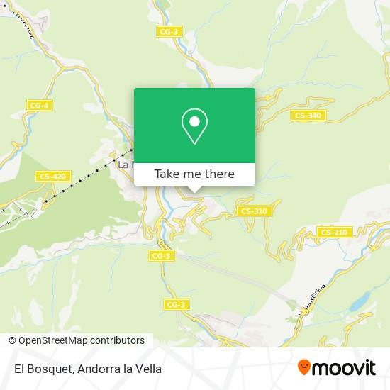 El Bosquet map