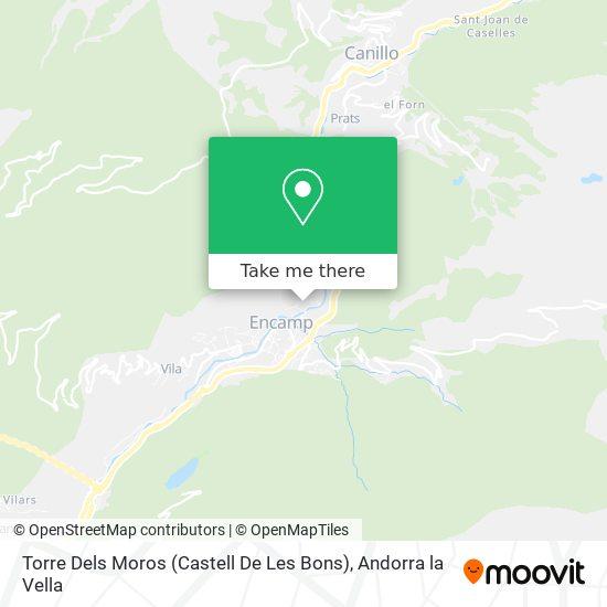 Torre Dels Moros (Castell De Les Bons) map