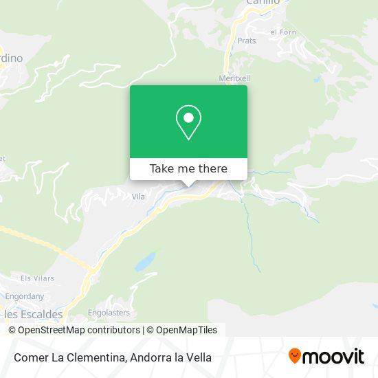 Comer La Clementina map