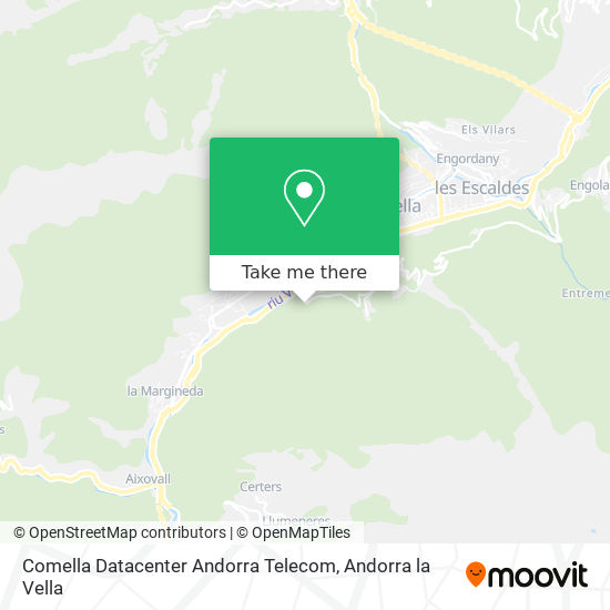 Comella Datacenter Andorra Telecom map