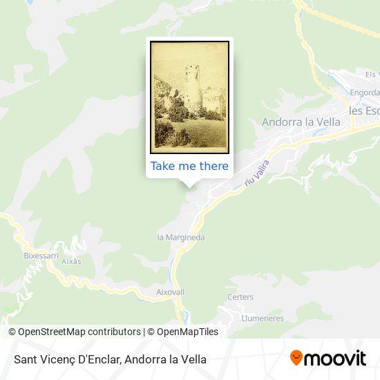 Sant Vicenç D'Enclar map