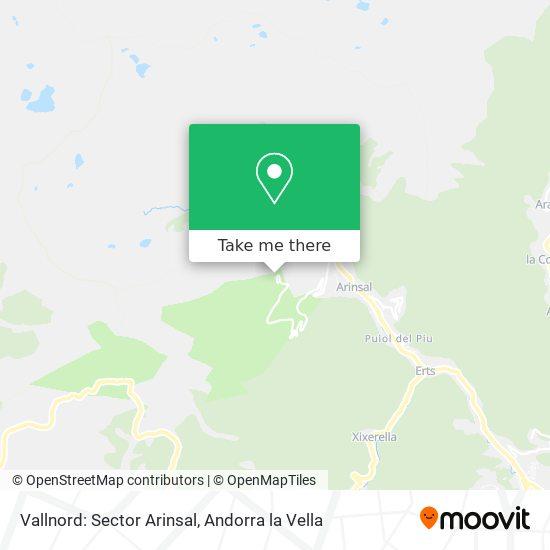 Vallnord: Sector Arinsal map