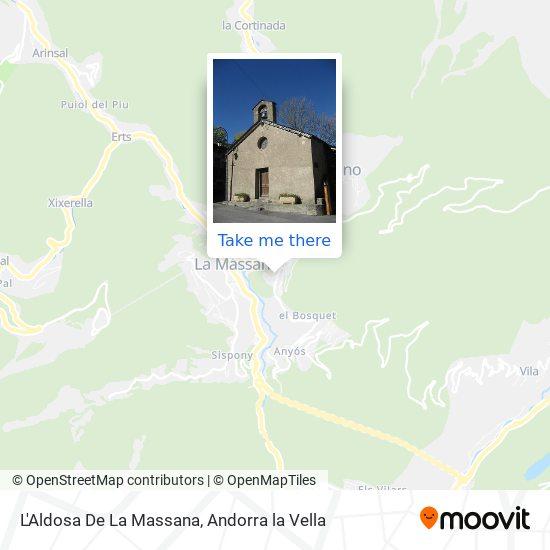 L'Aldosa De La Massana map