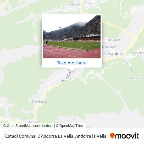 Estadi Comunal D'Andorra La Vella map