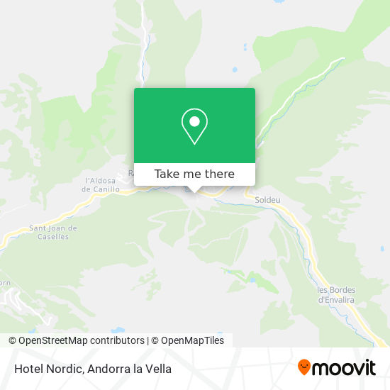 Hotel Nordic map