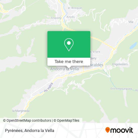 Pyrénées map