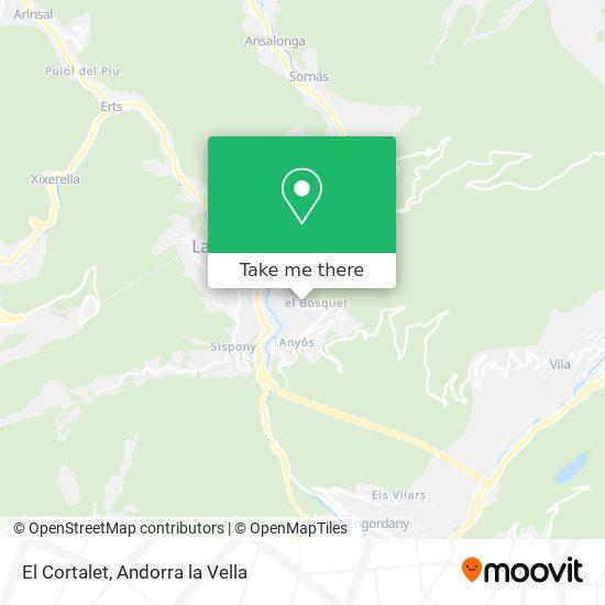 El Cortalet map