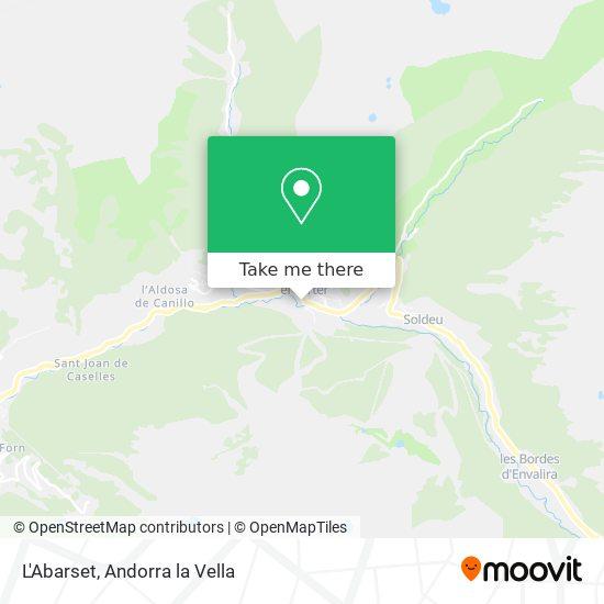 L'Aberset map