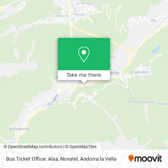 Bus Ticket Office: Alsa, Novatel map