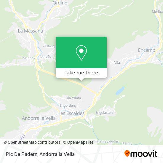 Pic De Padern map