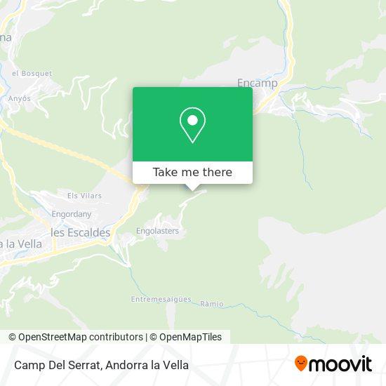 Camp Del Serrat map