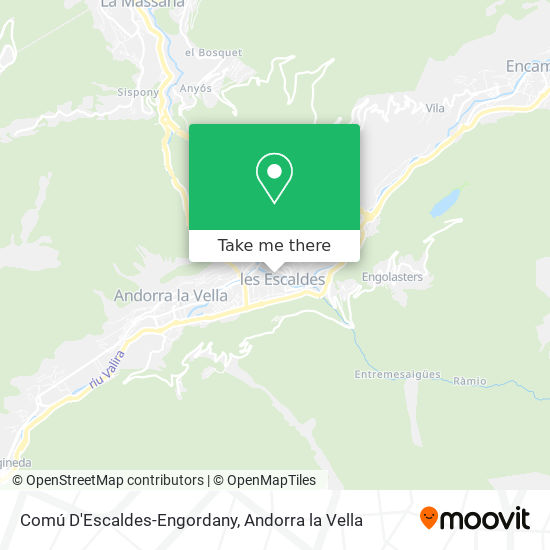 Comú D'Escaldes-Engordany map