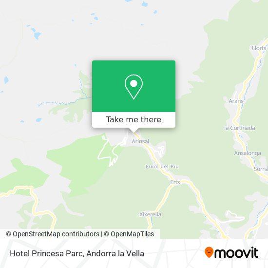 Hotel Princesa Parc map