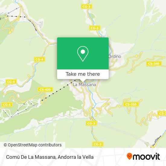 Comú De La Massana map