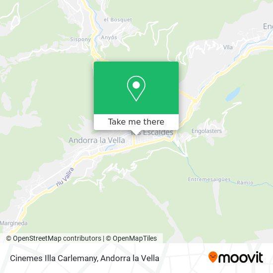 Cinemes Illa Carlemany map
