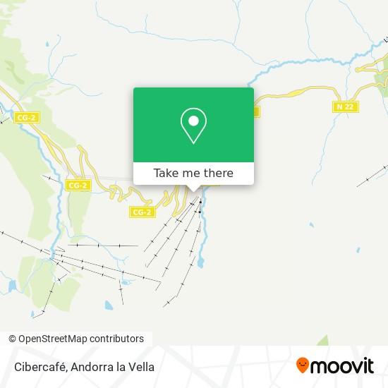 Cibercafé map