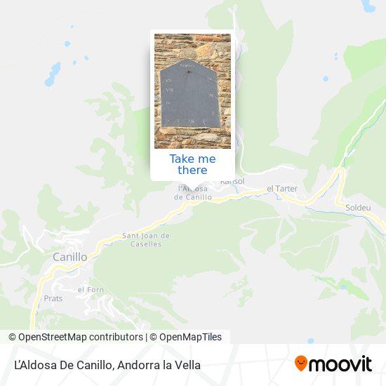 L'Aldosa De Canillo map