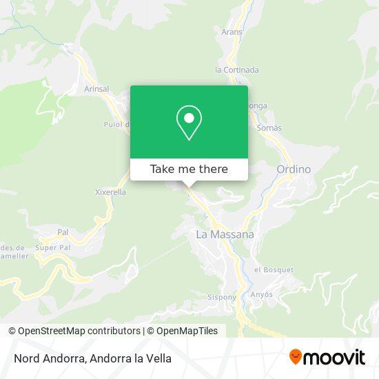 Nord Andorra map