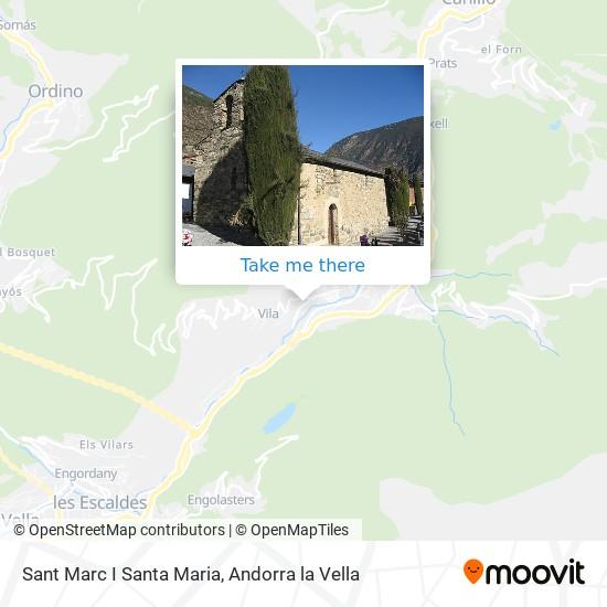 Sant Marc I Santa Maria map