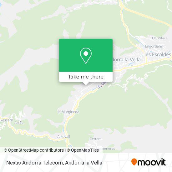 Nexus Andorra Telecom map