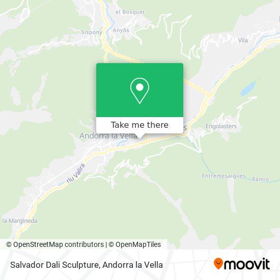 Salvador Dali Sculpture map